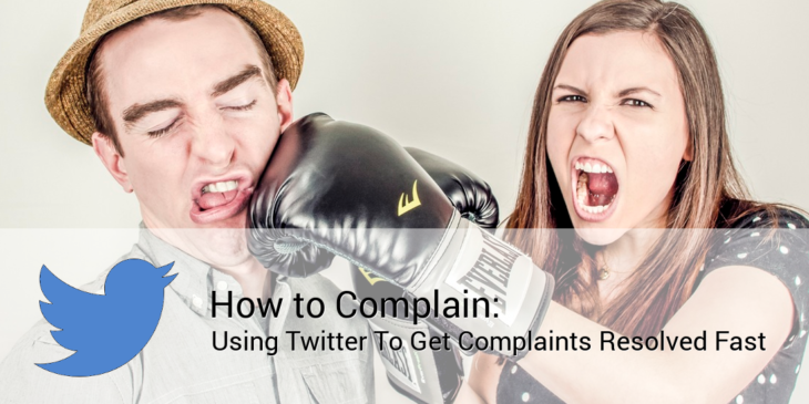 how to complain using twitter
