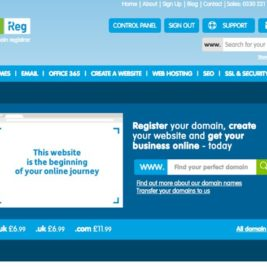 picture of the 123-reg website