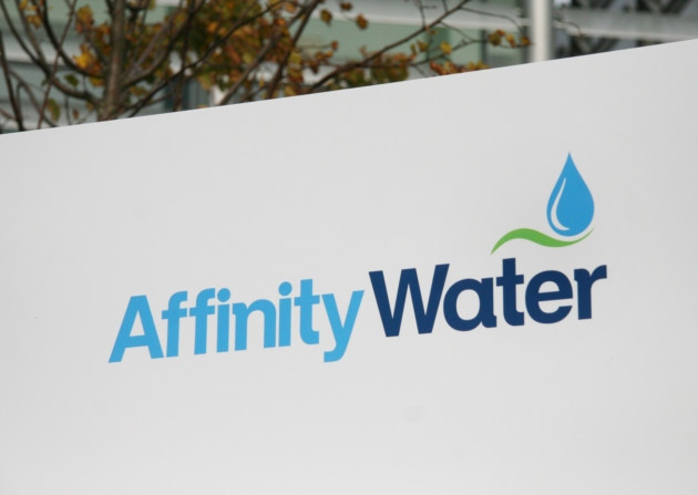 picture of the affinity water logo on a sign outside their offices