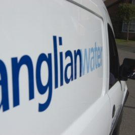 picture of an anglian water van